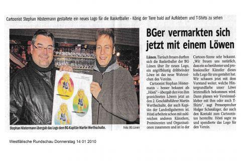 Westfälische Rundschau Donnerstag 14 01 2010