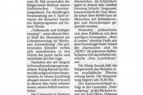 Anzeiger für Harlingerland Donnerstag 12 02 2009 Seite 4