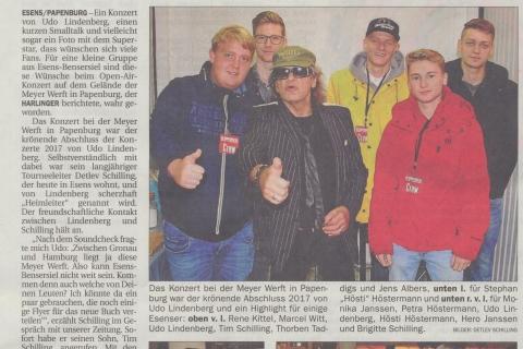 Anzeiger für Harlingerland Freitag 15 09 2017 Udo Lindenberg