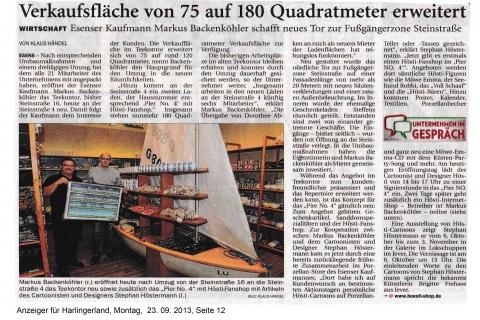 Anzeiger für Harlingerland Montag 23 09 2013 Seite 12