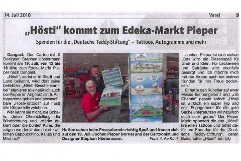 Dangast 219 07 2018 Nordwest Zeitung 14.07.2018  Seite 9