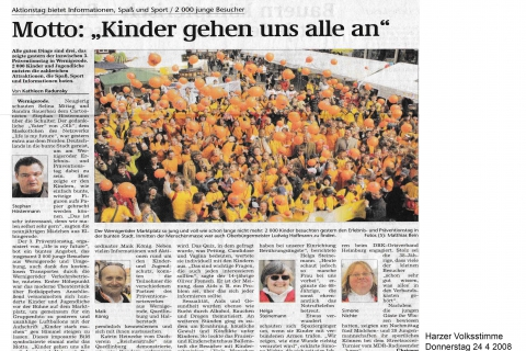 Harzer Volksstimme Donnerstag 24 4 2008