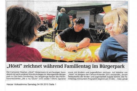 Harzer Volksstimme Samstag 04 09 2010 Seite 1