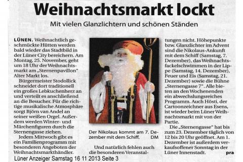 Lüner Anzeiger Samstag 16 11 2013 Seite 3