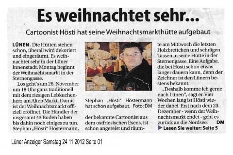Lüner Anzeiger Samstag 24 11 2012Seite 01