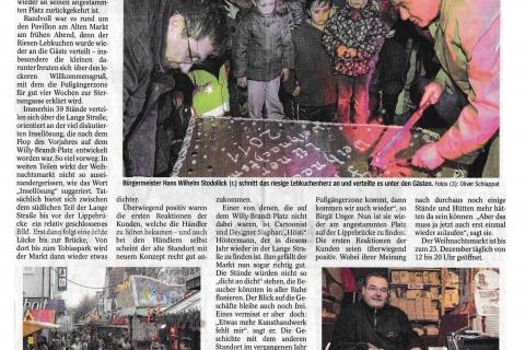 Lüner Rundschau Dienstag 22 11 2011 Seite 1