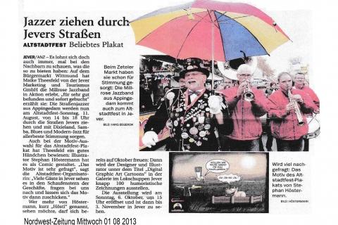 Nordwest-Zeitung Mittwoch 01 08 2013