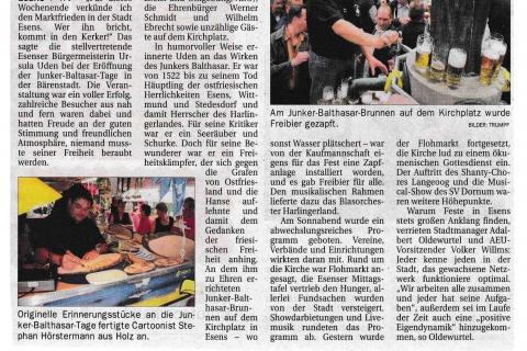 Ostfriesen Zeitung Montag 03 08 2009 Seite 14