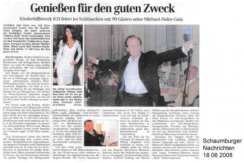 Schaumburger Nachrichten 18 06 2008