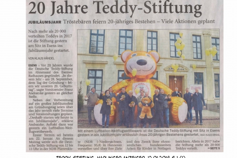 Teddy-Stiftung Harlinger Anzeiger 12012018 S 1 1