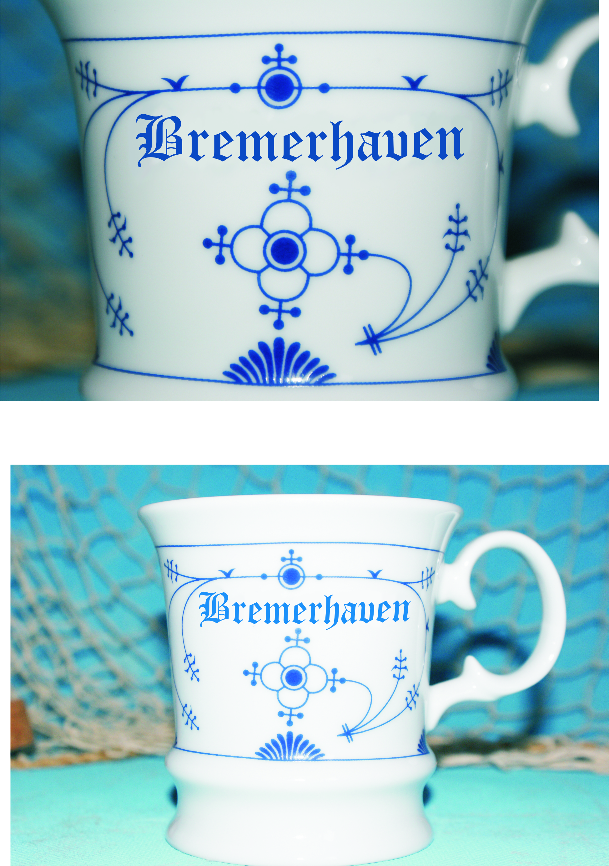 Bremerhaven Becherfotomontage