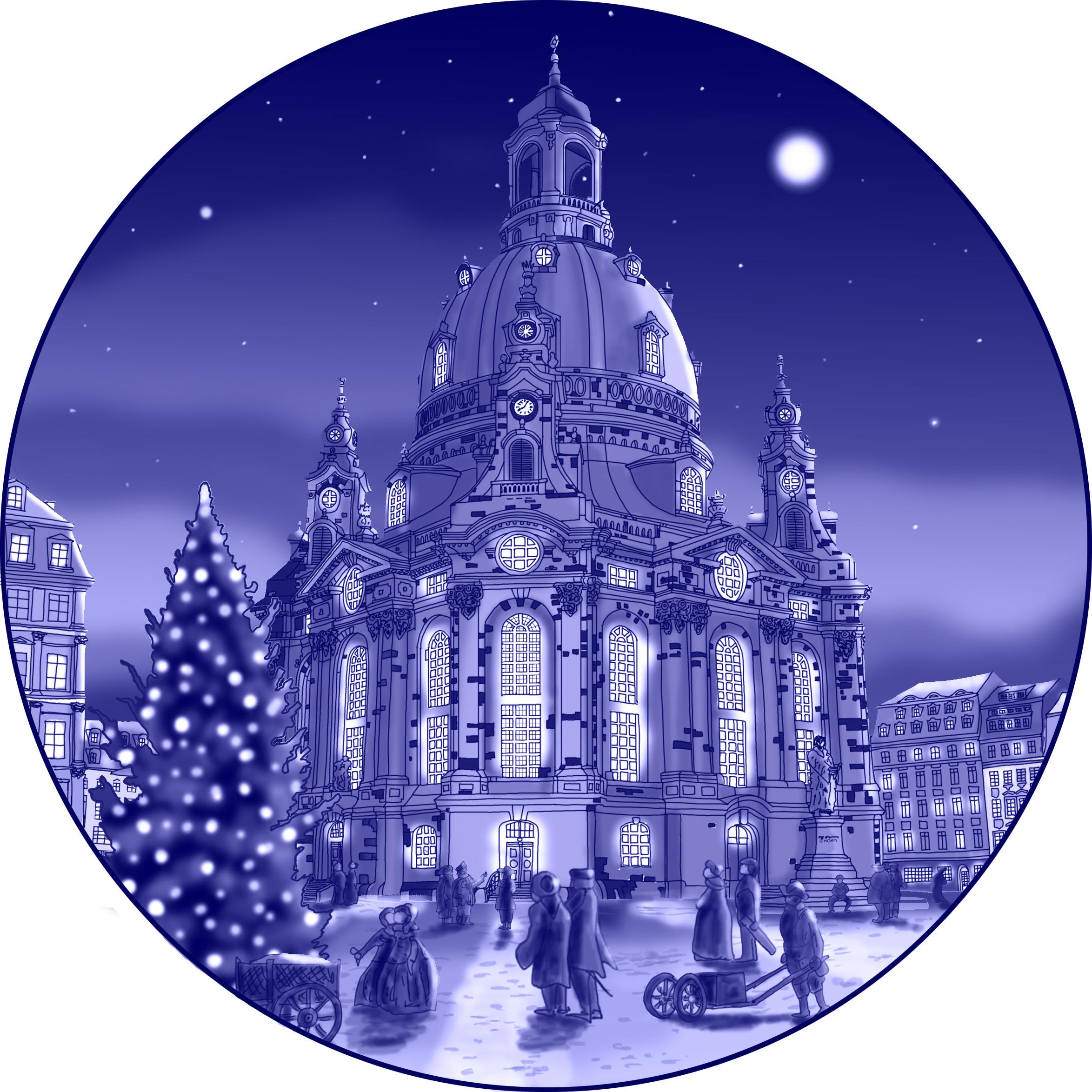 Frauenkirche Dresden in BLAU