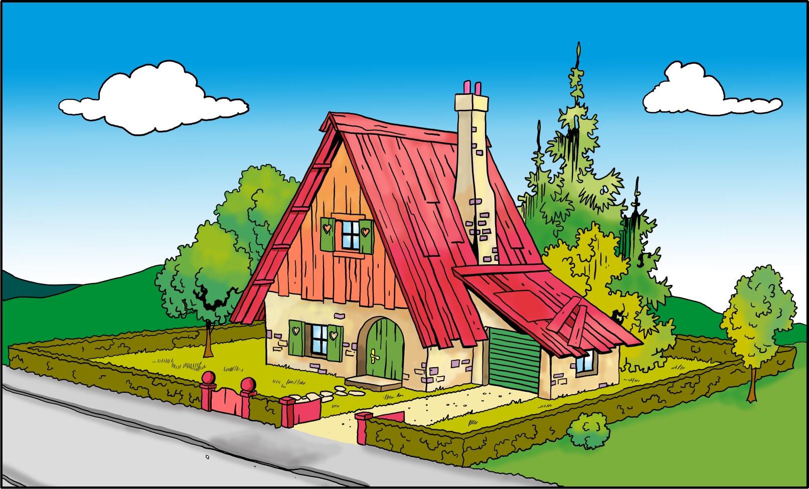 Haus Vorderansicht color FF1