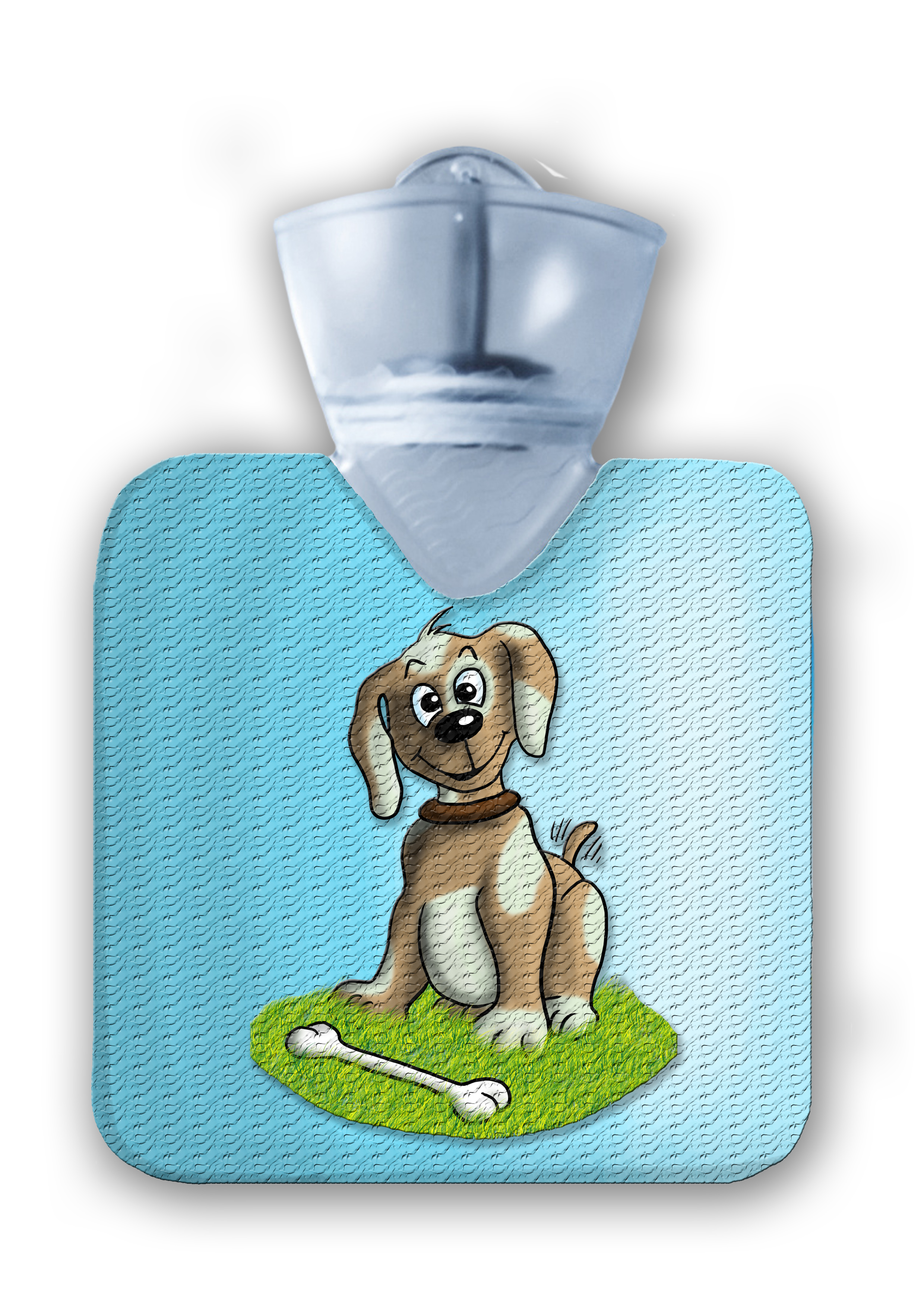 kinderflasche frei hellblau Hund struktur abg
