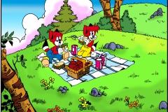FF komplettbild picknick frei