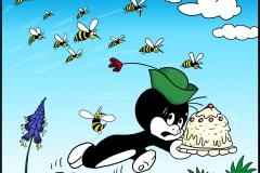 Pauli Flucht vor Wespen Komplettbild