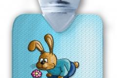 kinderflasche frei hellblau freiHase blume struktur abg