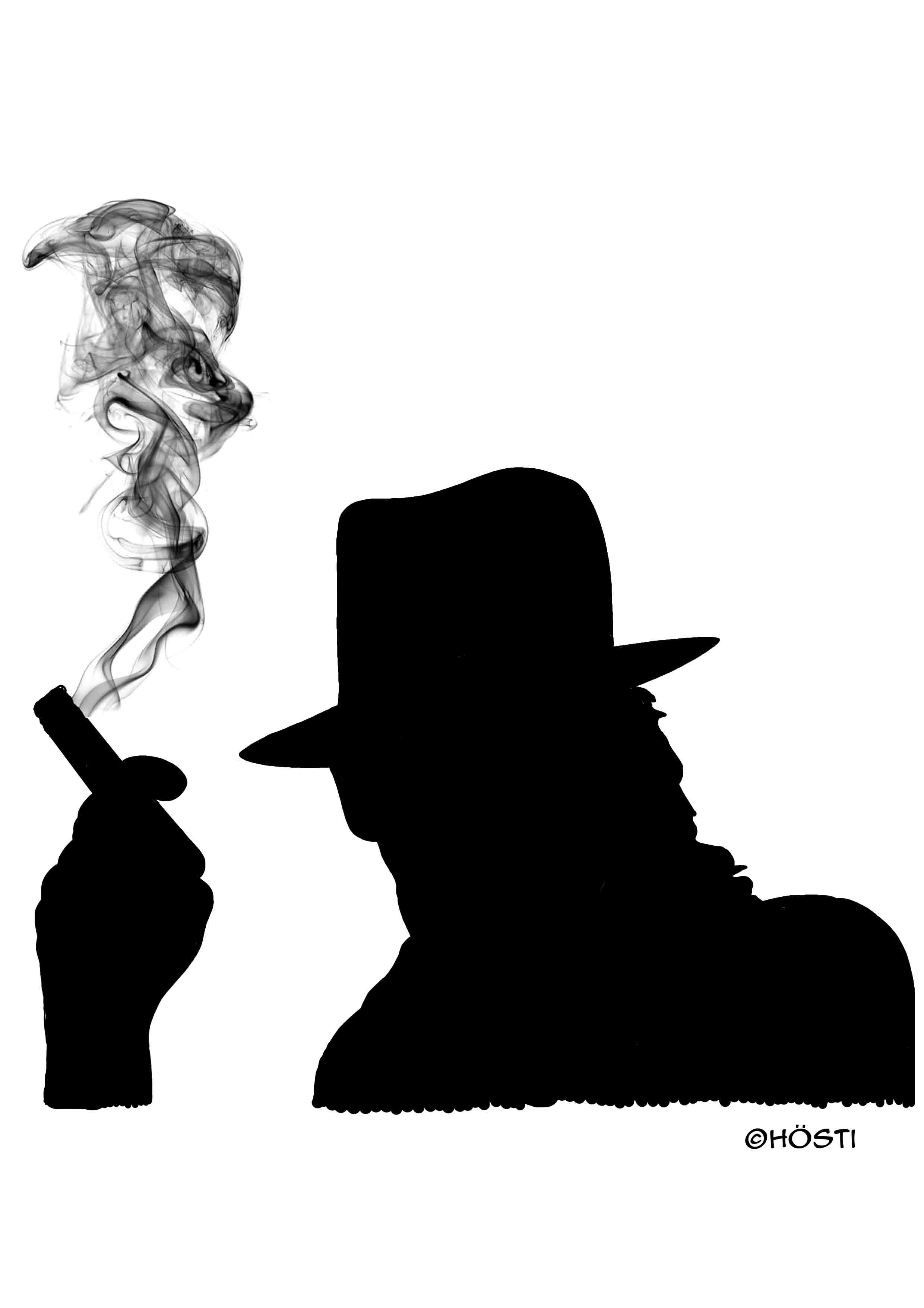 udo rauchend 2 schwarz