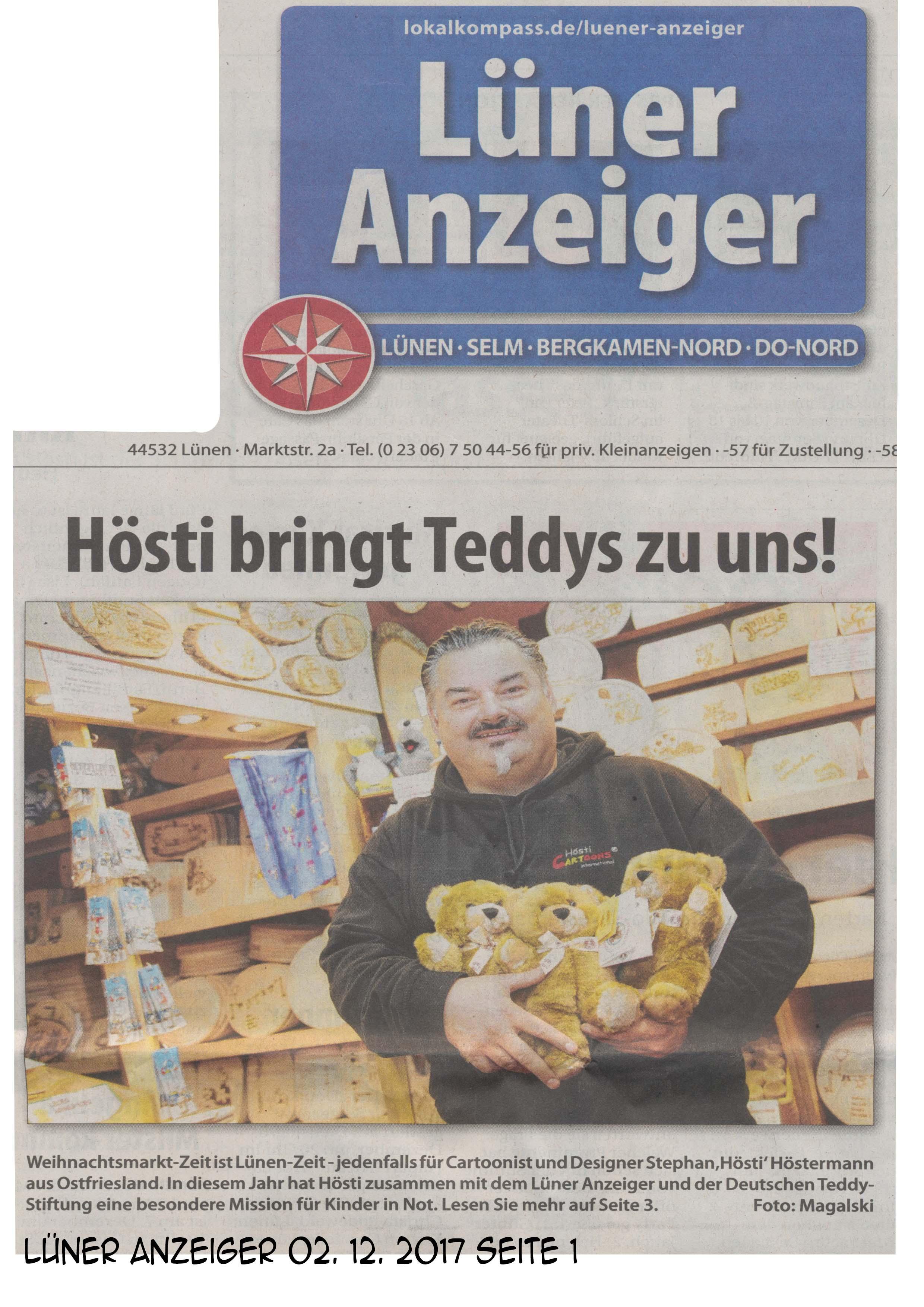 Lüner Anzeiger 02 12 2017 Seite 1